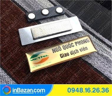 Chuyên thẻ tên nhân viên giá rẻ, 1 chiếc cũng làm - inbazan.com