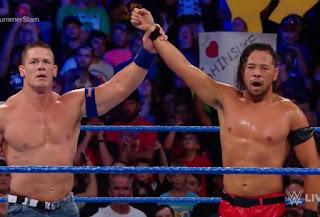 WWE SummerSlam Cena Shinsuke Nakamura SmackDown Live