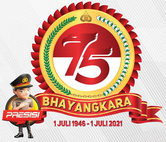 Logo Hari Bhayangkara ke 75 tahun 2021 terbaru