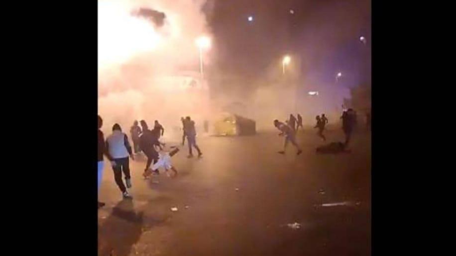 مواجهات داميه بين المتظاهرين وقوات الأمن اللبنانية في طرابلس