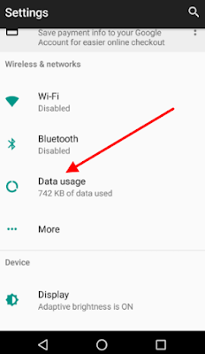 Tip on How To Check Your Mtn Night Data Usage  Android-data-usage-menu