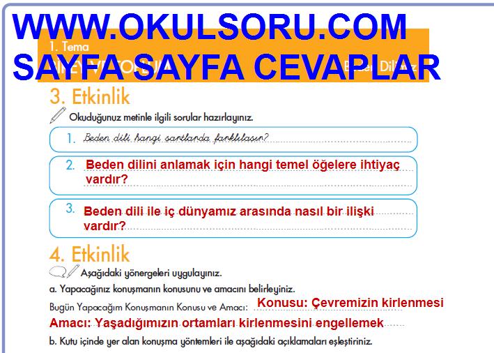 5sınıf Türkçe Cem Veb Ofset çalışma Kitabı 20sayfa Cevapları