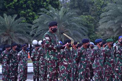 Kasum TNI Pimpin Upacara Gelar Operasi Gaktib dan Yustisi POM TNI