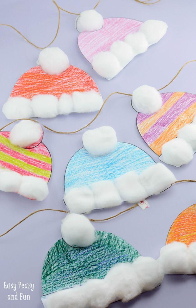 winter hat craft for kids