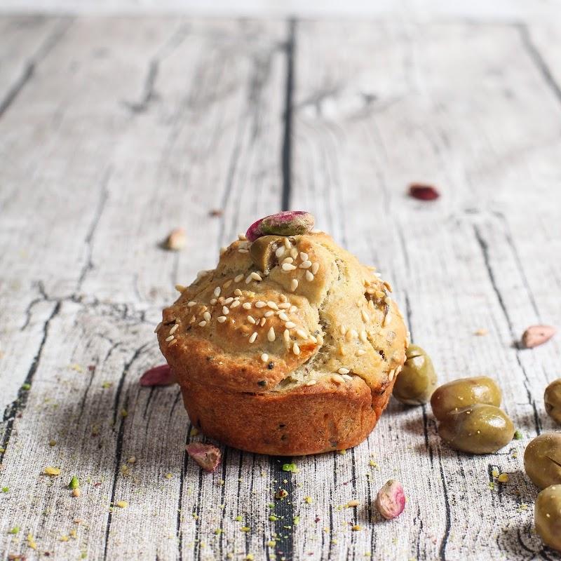 Seeded Olives Zaatar Savory Muffins