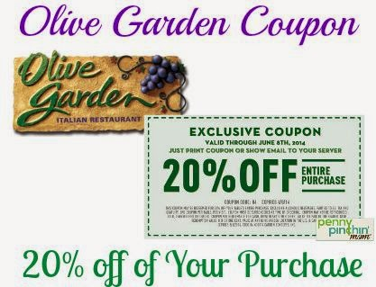 olive garden coupons 2016