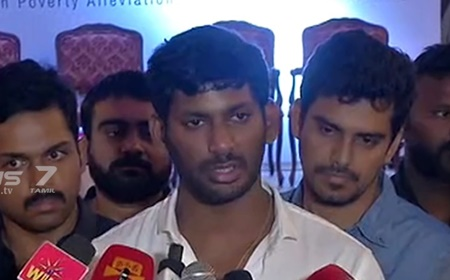 Central Government should take action to prevent the release of films on the Internet : Vishal