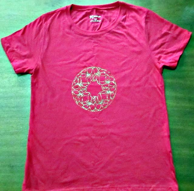 artesanato em camiseta