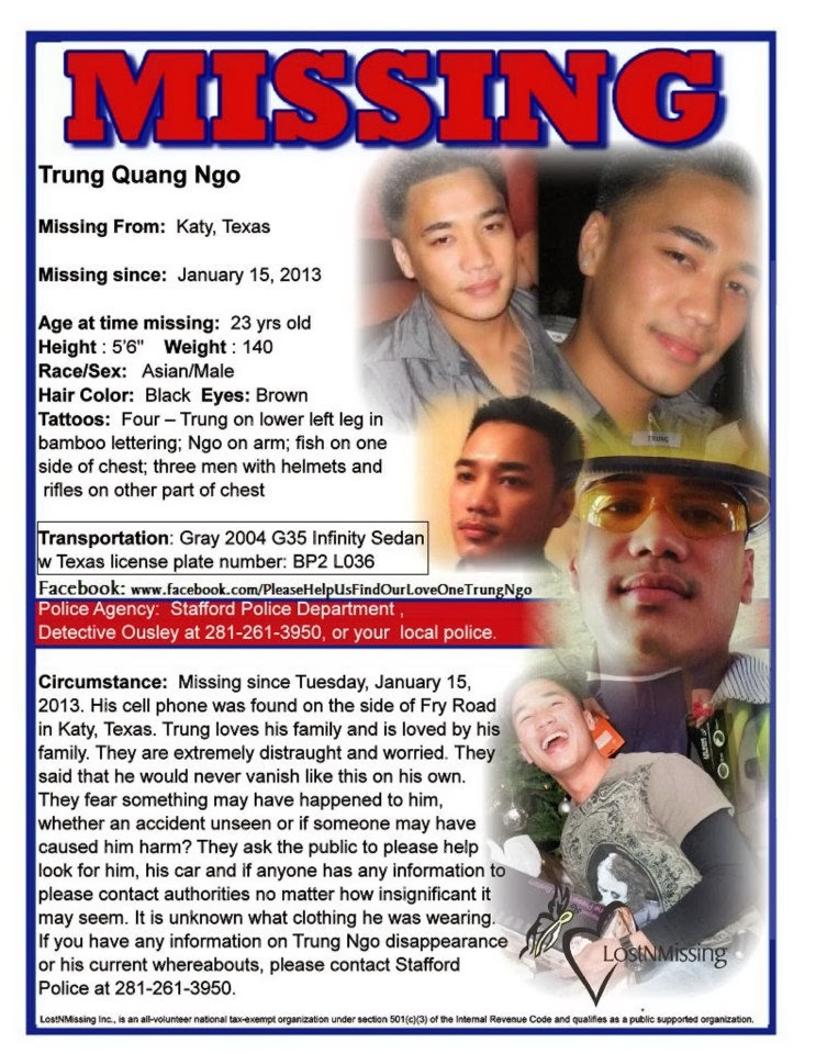 Missing Wesley A Wamsganz, Missing Lynn Paan, Missing Christine - missing person posters