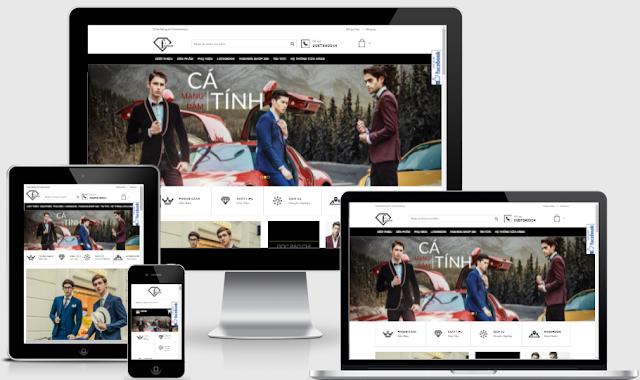 Thiết kế blogspot Fashion Store Shop