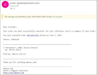 Fake Amazon Cancellation Emails