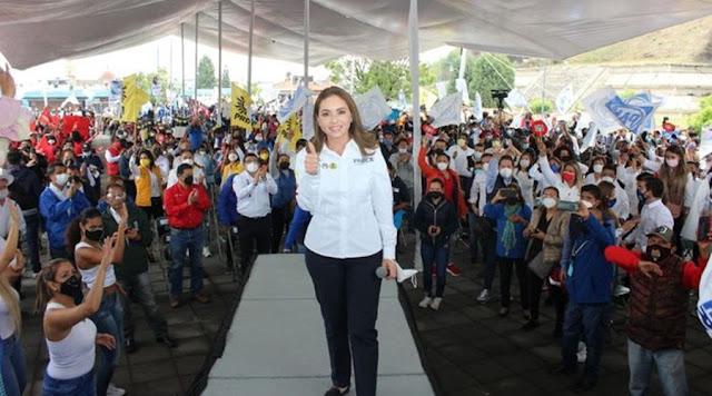 Ya ganamos en San Pedro Cholula porque así lo decide la gente: Paola Angon