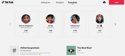 kumpulan video tiktok populer dan trending