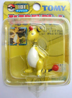 Ampharos Pokemon figure Tomy Monster Collection yellow package series