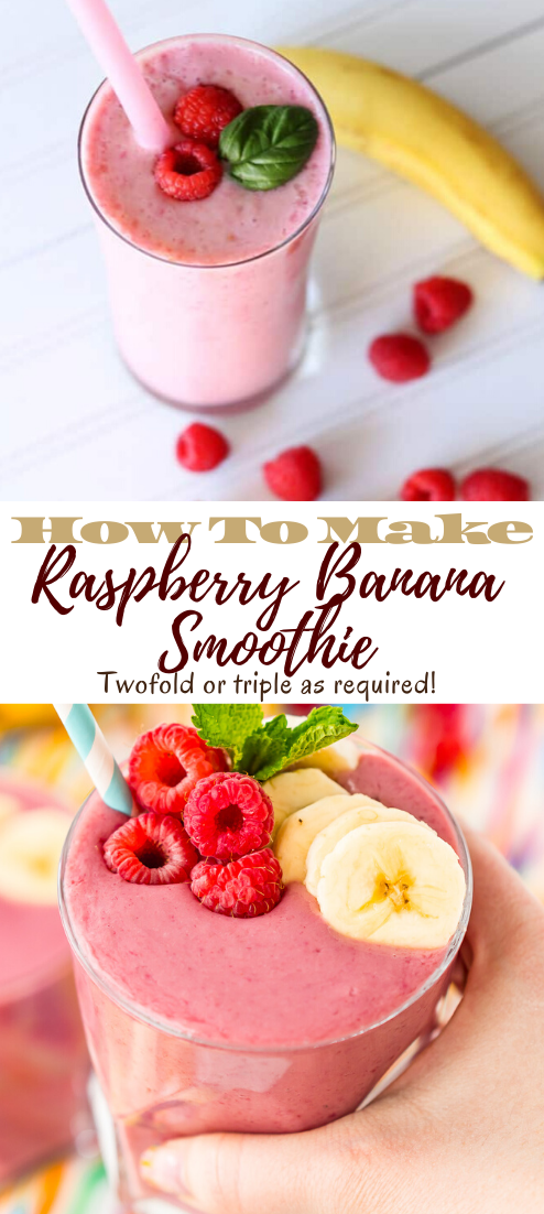 Raspberry Banana Smoothie #healthydrink #easyrecipe #cocktail #smoothie