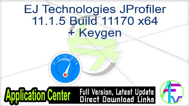 EJ Technologies JProfiler 11.1.5 Build 11170 x64 + Keygen