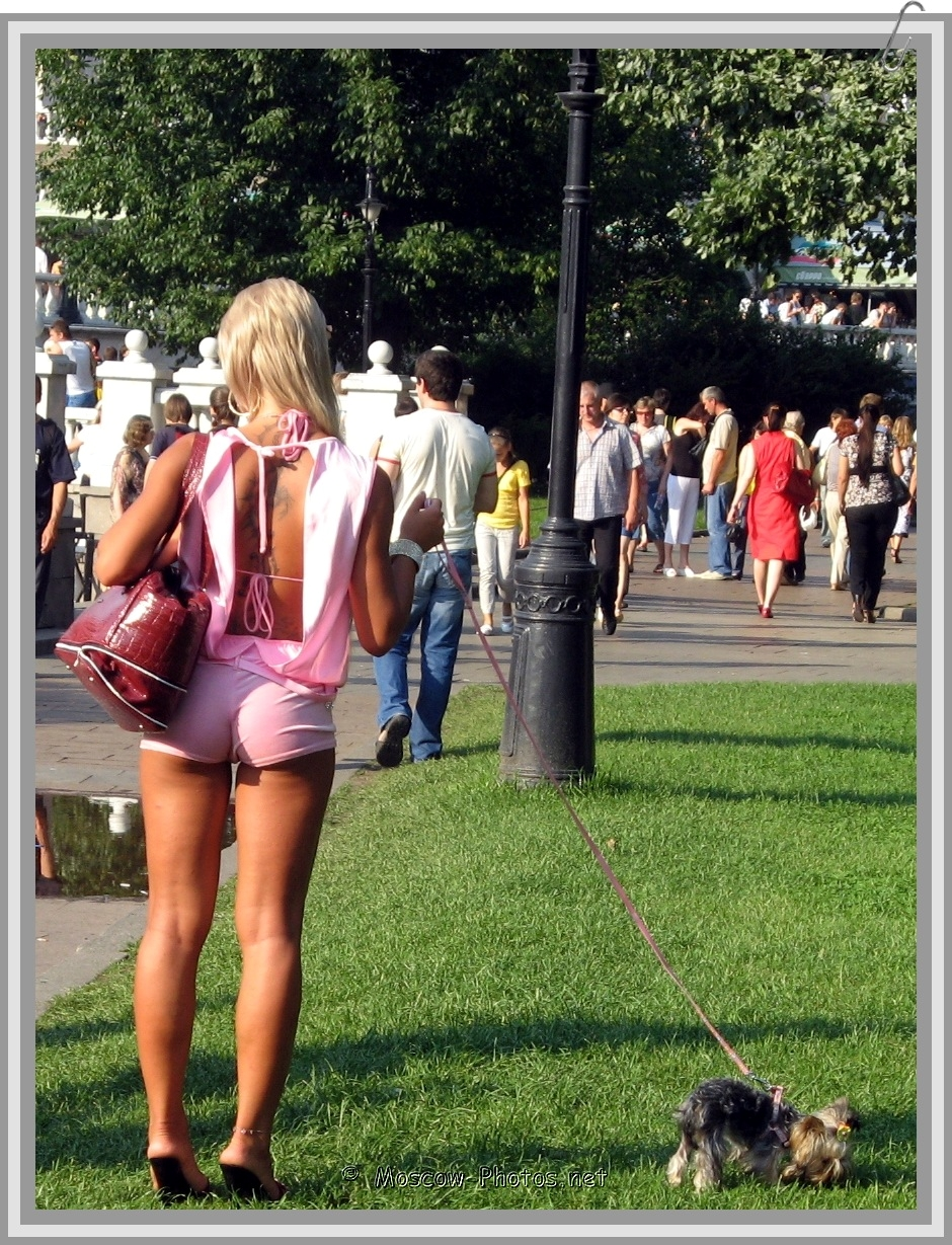 Russian Girl and Hot Moscow Summer