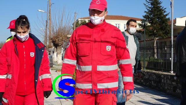 Στο Μικρό Δέρειο ,κοντά στους πληγέντες Ο Ελληνικός Ερυθρός Σταυρός (ΒΙΝΤΕΟ)