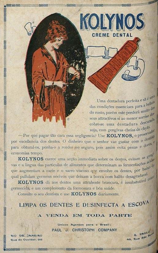 Propaganda antiga do Kolynos apresentada em 1923