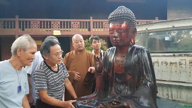 Tìm được tượng cổ 700 tuổi của chùa Pháp Vân