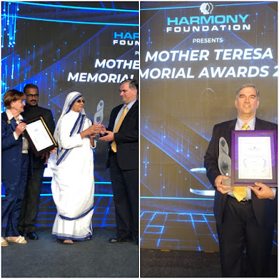 Mother Teresa Memorial Award Function Bangalore China News Vision