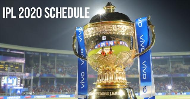 IPL 2020 Schedule: IPL 2020 Fixtures: IPL 2020 Timetable