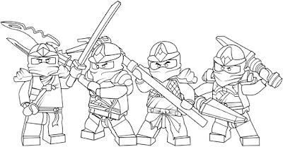Gambar Mewarnai Ninjago - 4