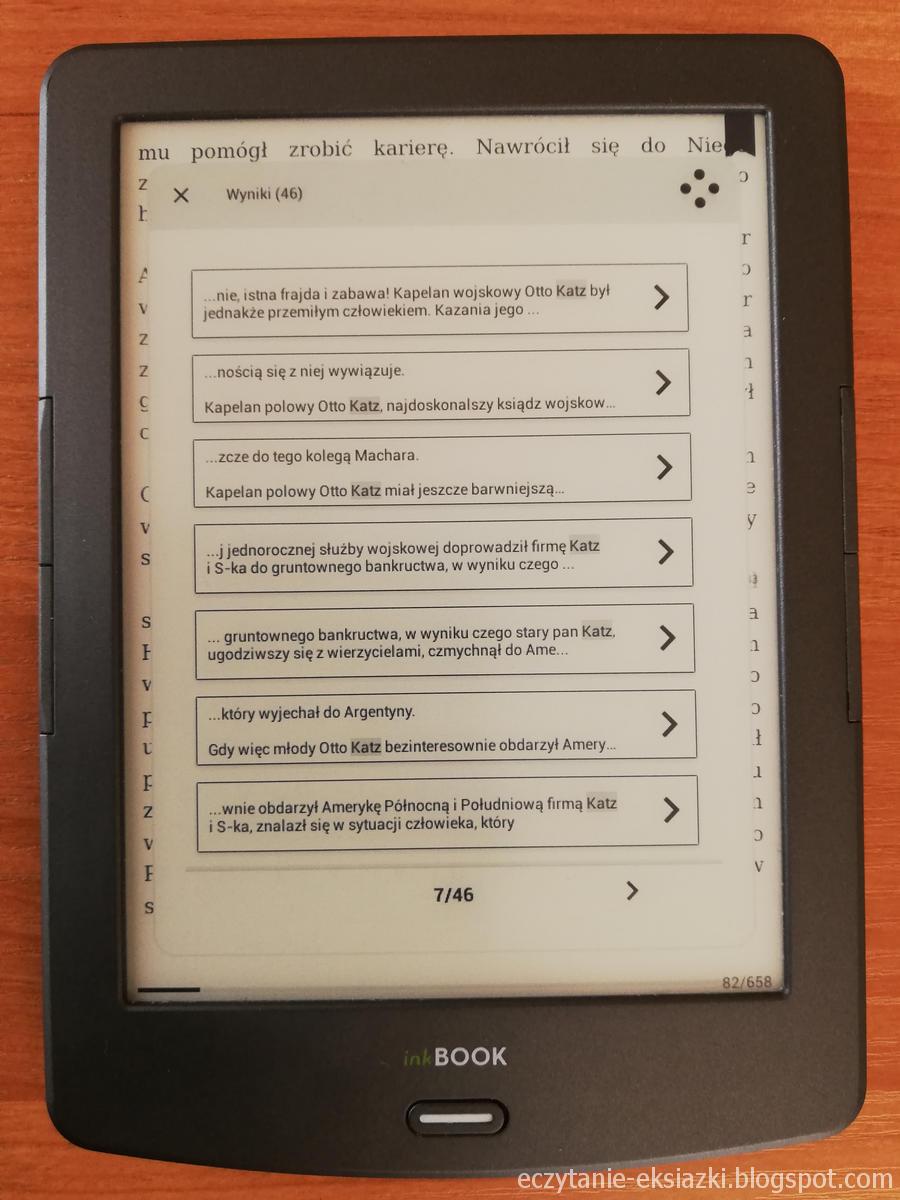 inkBOOK Classic 2 - wyszukiwanie słów w ebooku