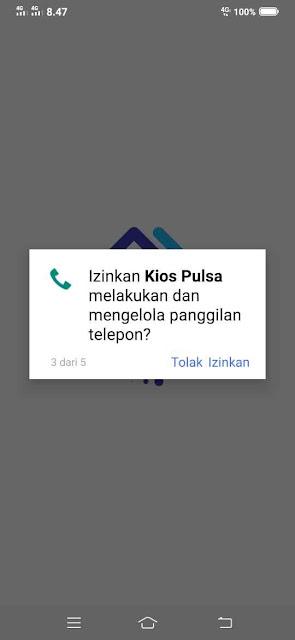 Izinkan KIOS Pulsa melakukan dan mengelola panggilan telepon