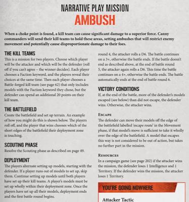 Emboscada Misiones Kill Team