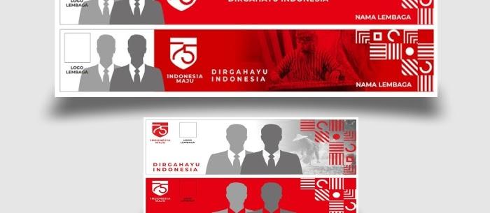 Template spanduk HUT kemerdekaan RI ke 75 tahun 2020