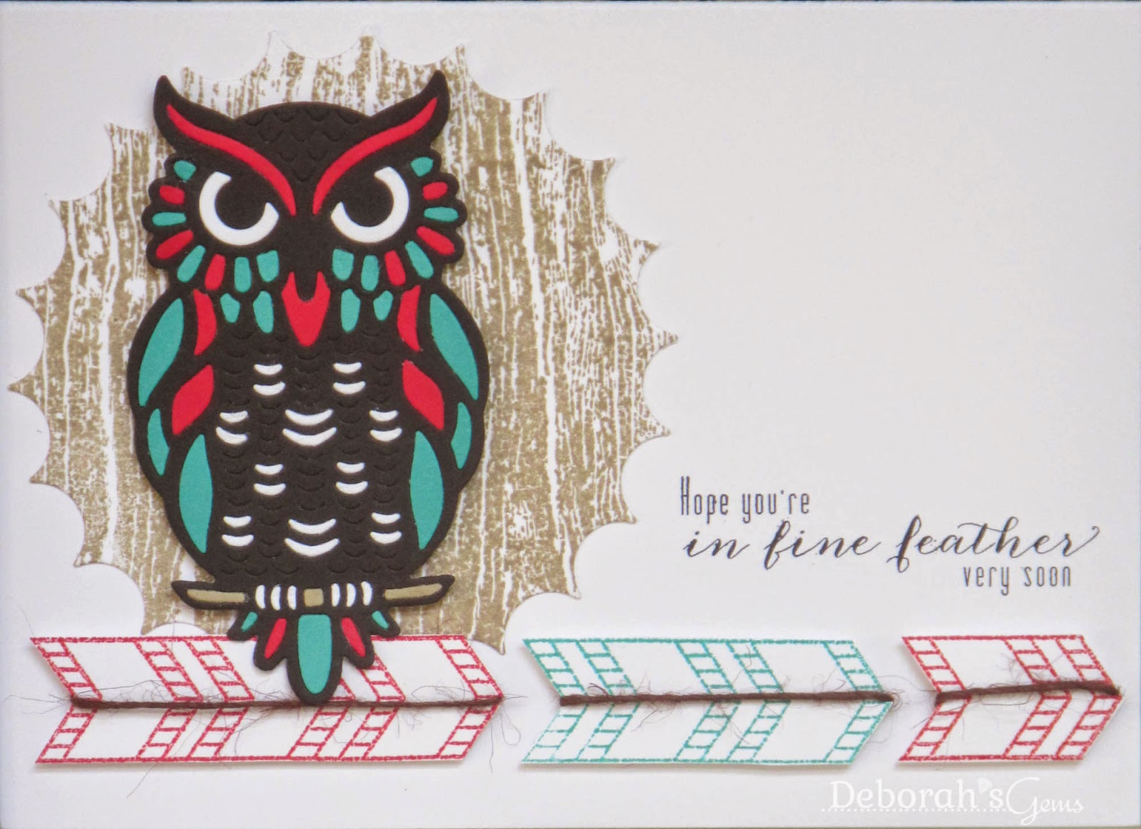 Owl card - photo by Deborah Frings - Deborah's Gems