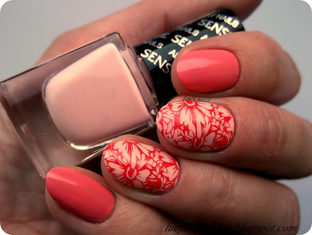 Sensique Art Nails Guava nr 324 i Magnolia nr 325