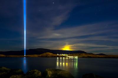 torre Imagine peace en la isla de Viðey