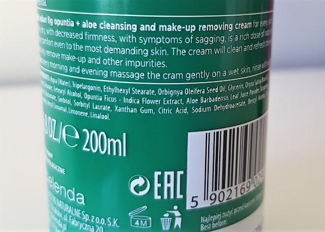 Bielenda botanic spa śmietanka do oczyszczania i demakijażu opuncja figowa i aloes