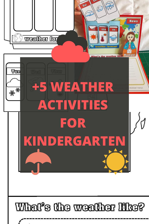 Weather Activities For Kindergarten Preschool