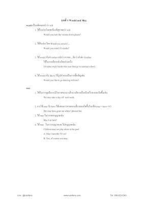 สรุปเรื่องสำคัญๆ วิชาภาษาอังกฤษ มัธยม1 เทอม1