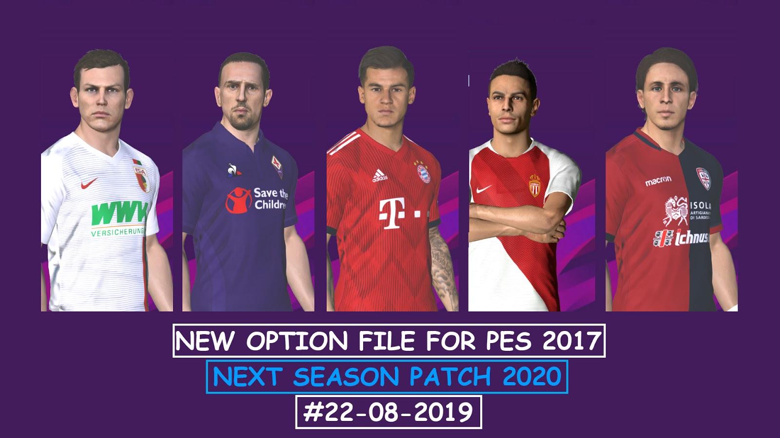 PES 2017 Option File For Next Season Patch 2020 #03-09-2019