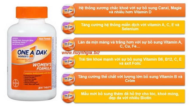 One A Day Women's Formula là một hỗn hợp đa Vitamin hoàn chỉnh dành cho phụ nữ www.huynhgia.biz