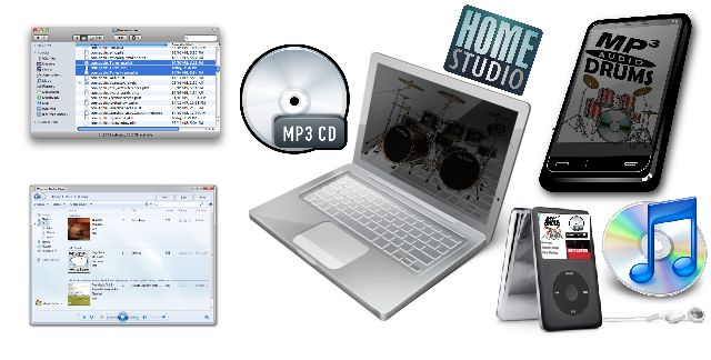 Reserve o seu MP3 Audio Drums