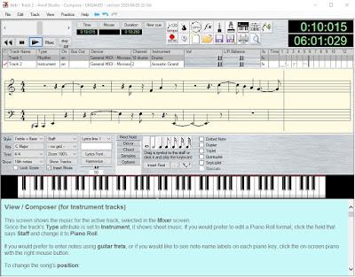 Componer, editar, imprimir partituras, con Anvil Studio