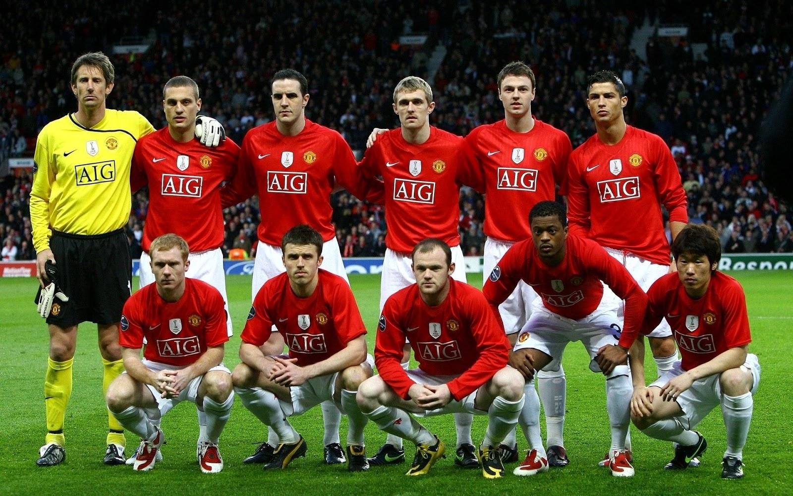 Premier league treble winners man utd squad in 2008