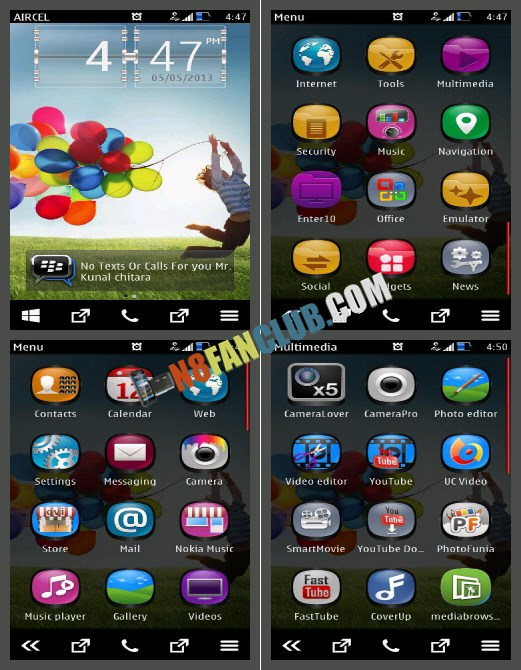 Samsung Galaxy S 4 Theme Hd Wallpapers Pack For Nokia N8