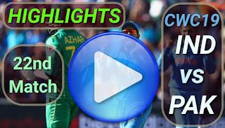 Ind vs Pak 22nd Match
