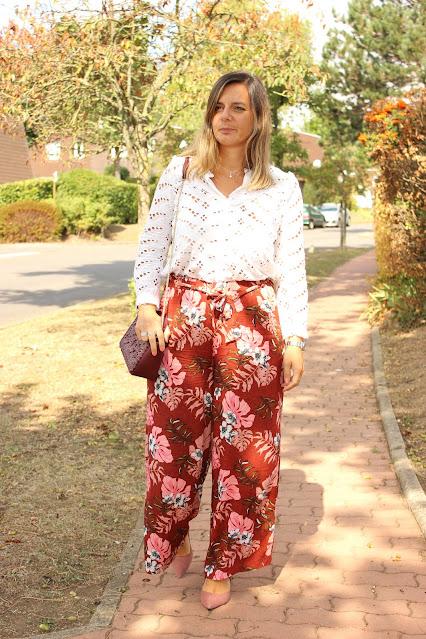 pantalon large fluide, look du jour, les petites bulles de ma vie