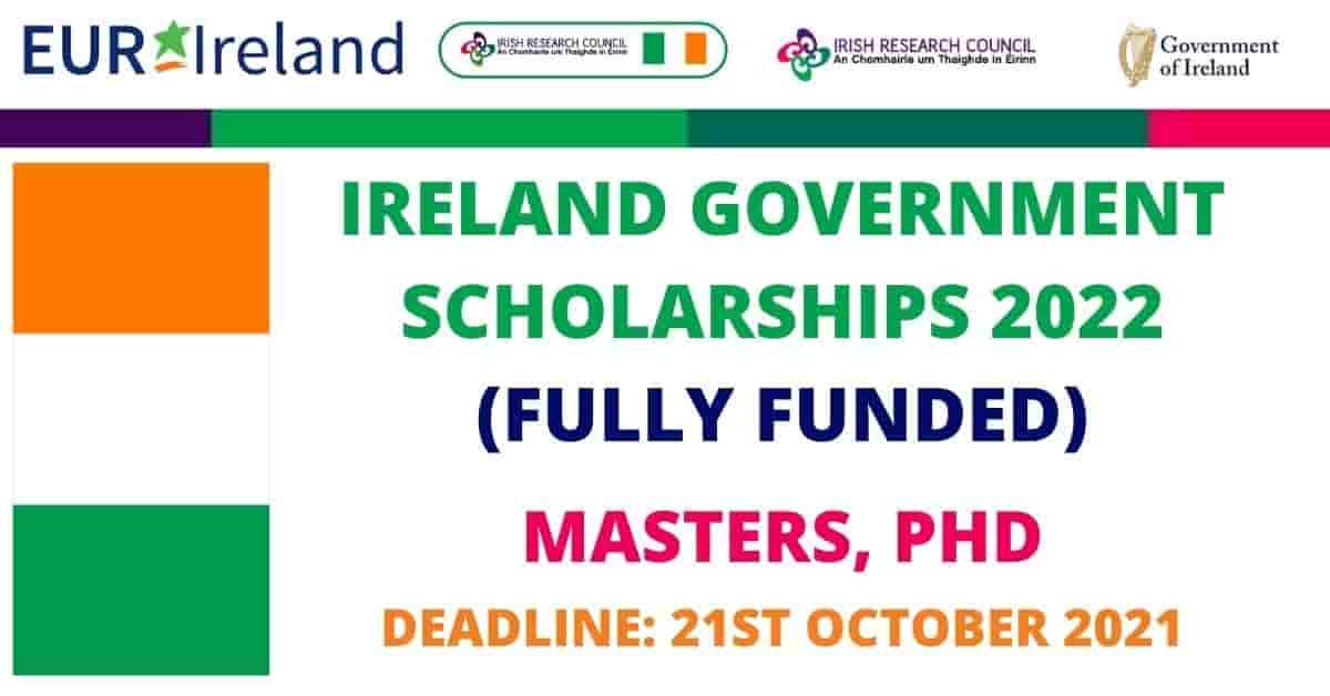 Ireland Government  Postgraduate Scholarship 2022