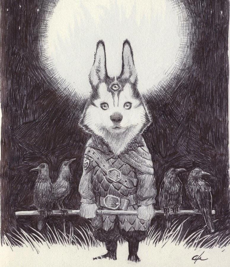 07-Siberian-Husky-Bobby-Chiu-Fantasy-www-designstack-co