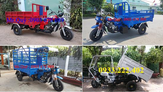 Bán xe lôi 3 bánh chở hàng, linh kiện chính hãng - Giá 24tr500