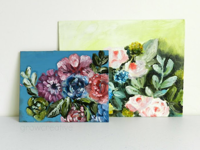 oil flower paintings: grow creative blog