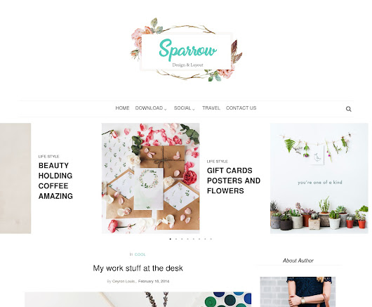 Sparrow Personal Blogger Template | OddThemes